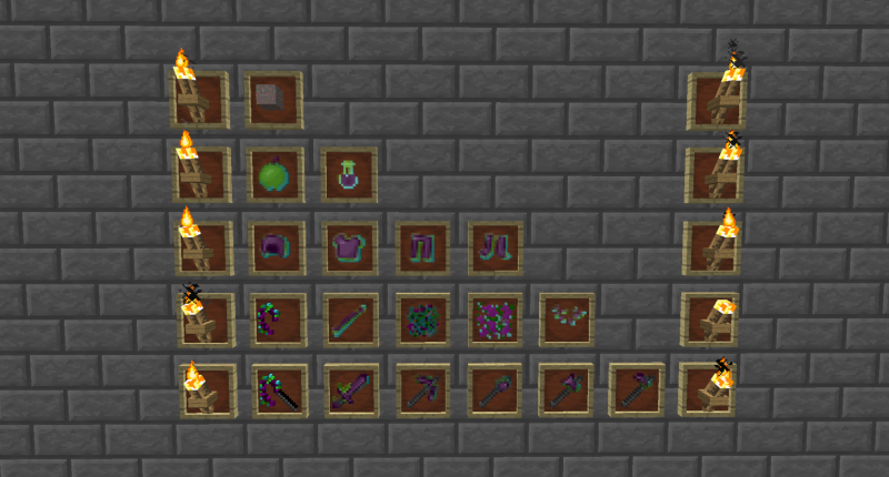 All the items that the mod adds.