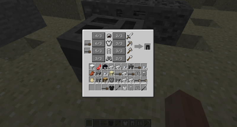 how to make armor and tools with molten minerals