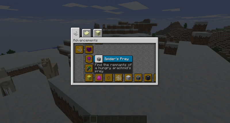The expansive advancement screen added by the mod.