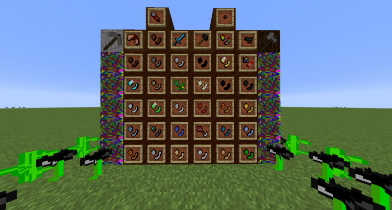 All of the items/blocks in the mod