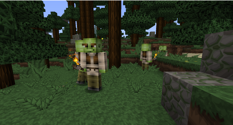 These are shreks that only spawn in swamps they are realy rare!