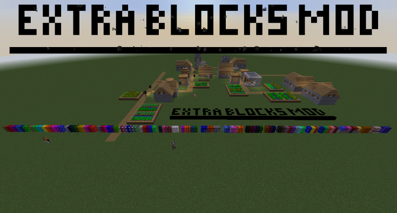 Extra Blocks Mod (Showcase of all blocks in a row)