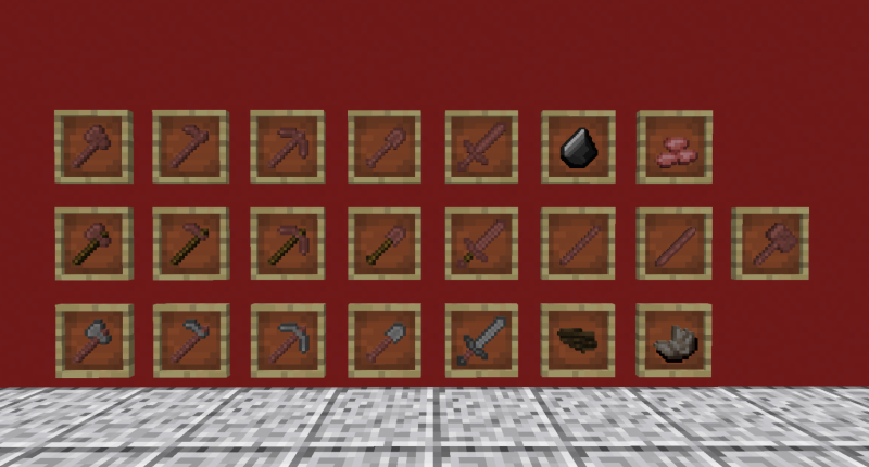 All of the current items in the mod