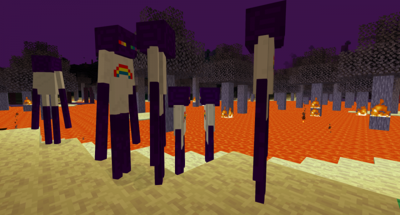 Enderfriends in the void biome.