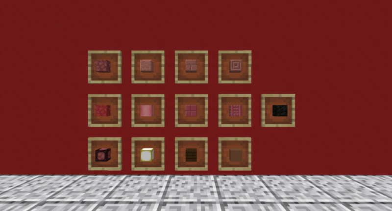 All of the current blocks in the mod