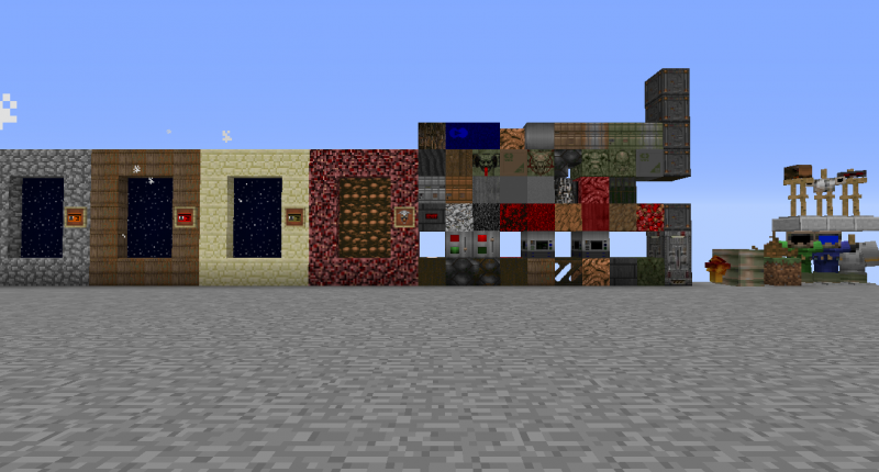Blocks,Dimensions,Decorations And Armons