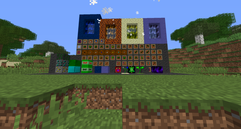 All The Items And The Block Worlds Materials Ores Armor & Tools