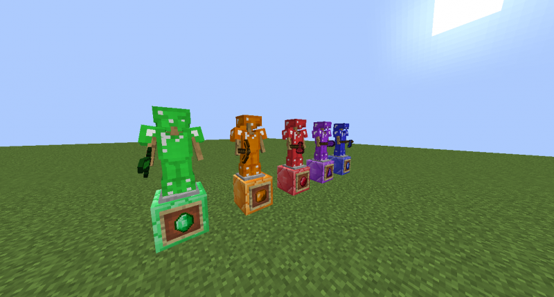 Tools and Armor of Emerald, Citrine, Ruby, Amethyst and Sapphire