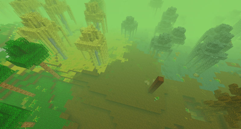 With many biomes to explore...