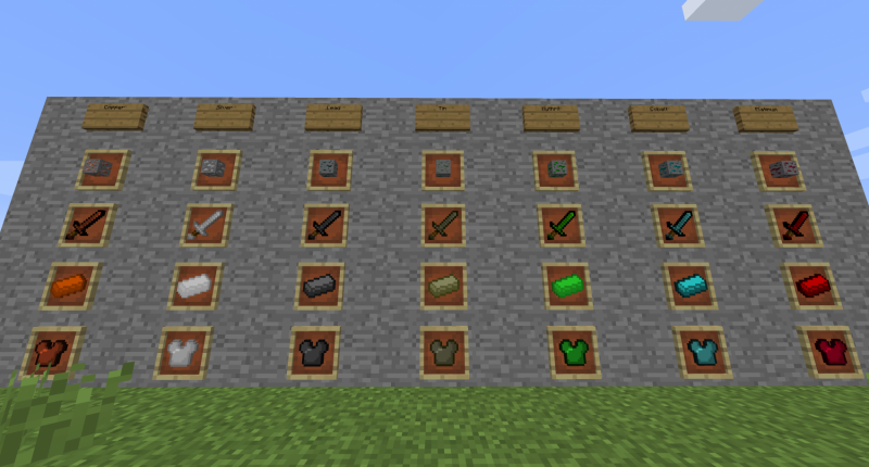 The new ores that spawn in the overworld!