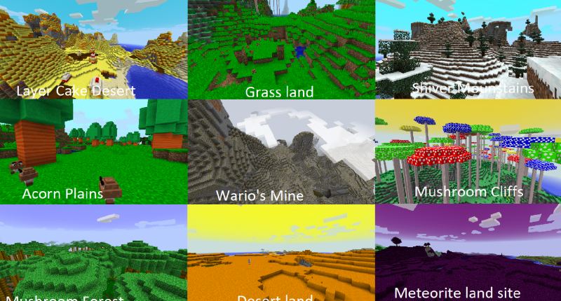 Biomes (from version 0.3, will be updated)