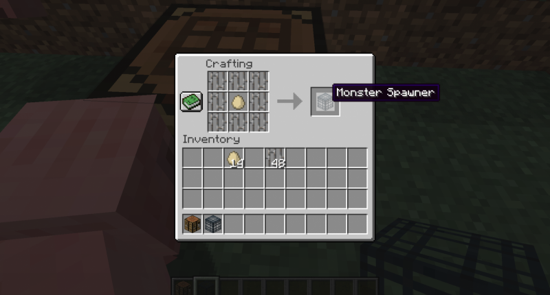 The crafting recipe