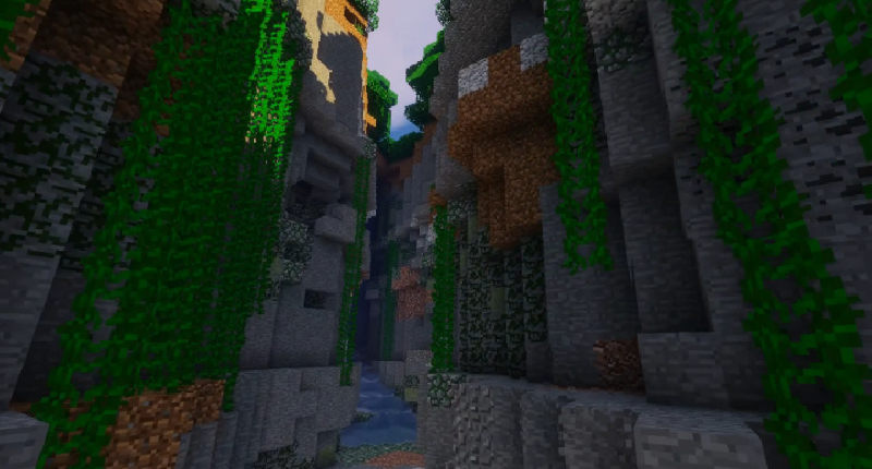 A decorated jungle cavern