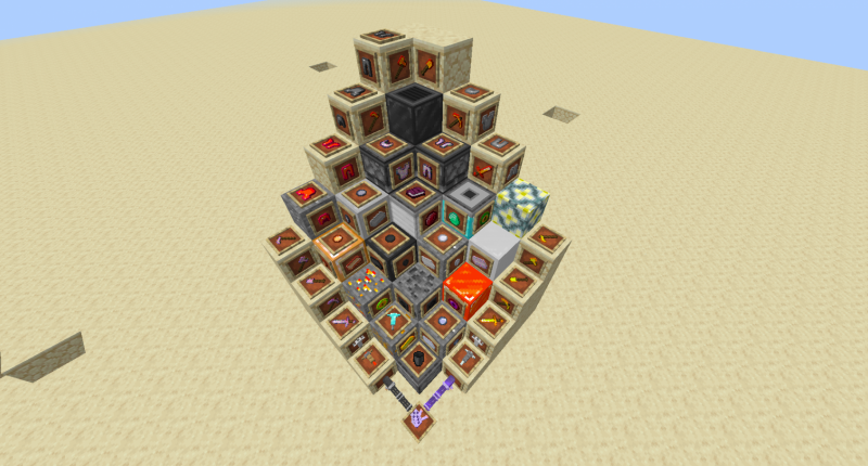 All Blocks, Items, Tools And Armor Displayed