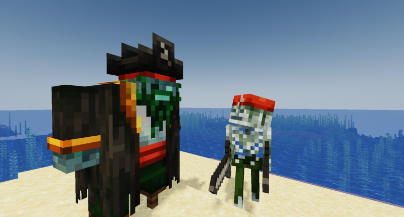A Pirate Zombie and his lackey?