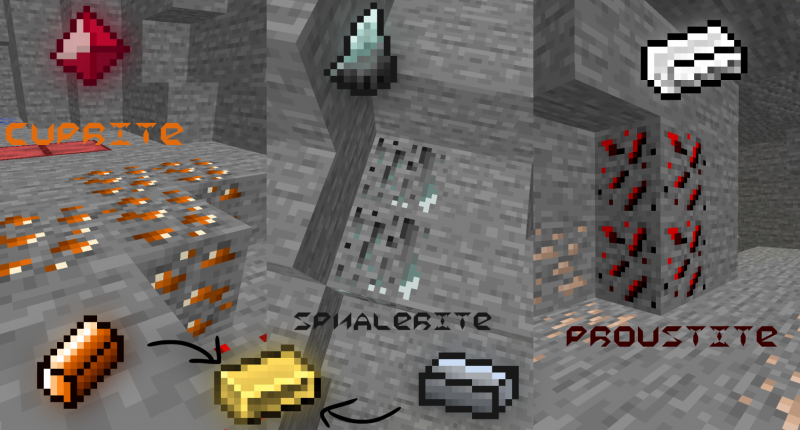 Again 3 new ores in 2.0! Guess where does the version's name come from.