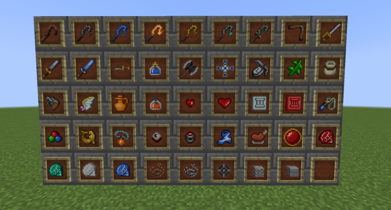 (Old) All of the mod's items from the original release of the mod.