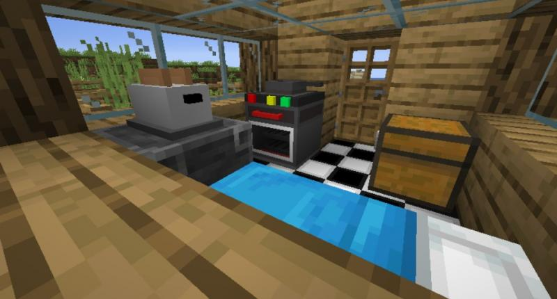 Inside of one of the generated houses in the world!