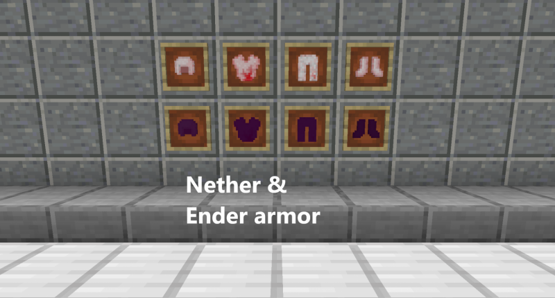 This are the armors (nether and ender armor)