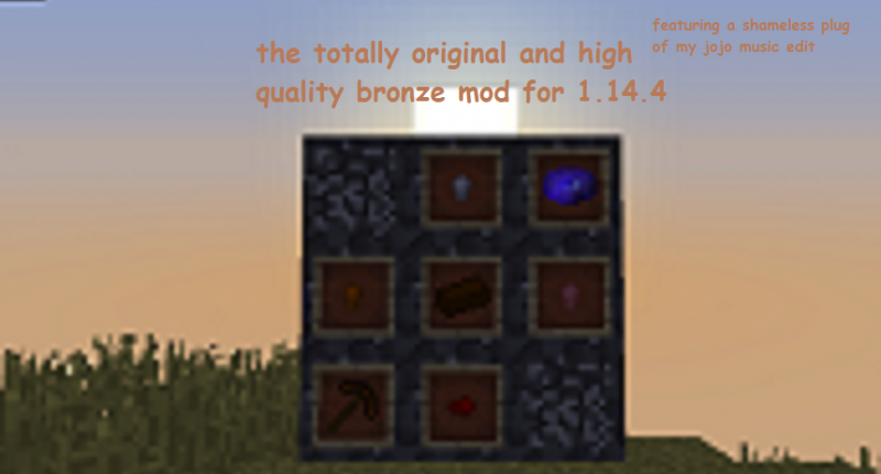 high quality square of tin ore showing some features of the mod