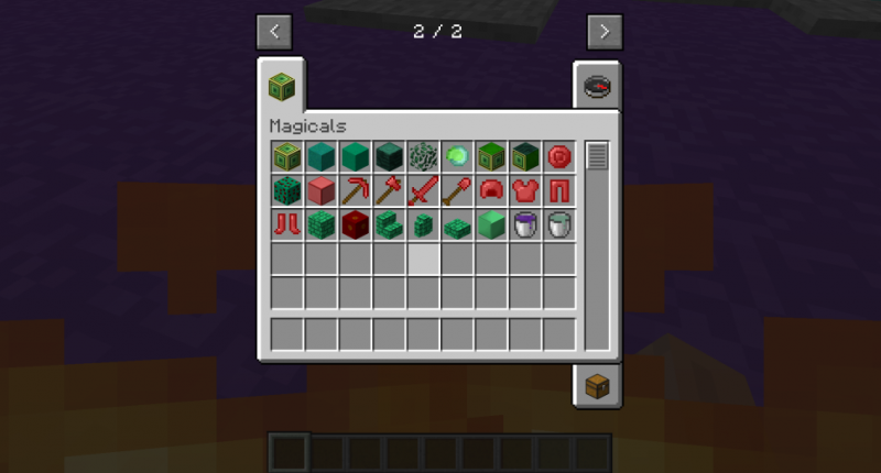 all the items and blocks