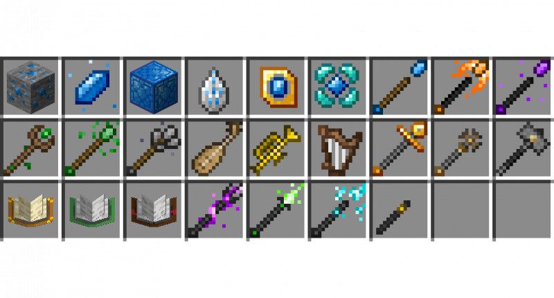 All the items in version 1.2