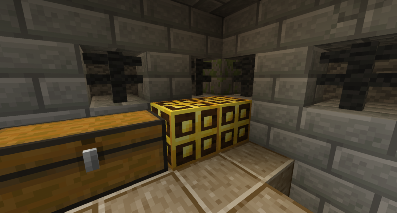 Loot blocks can be found in villager castles in the cave dimension