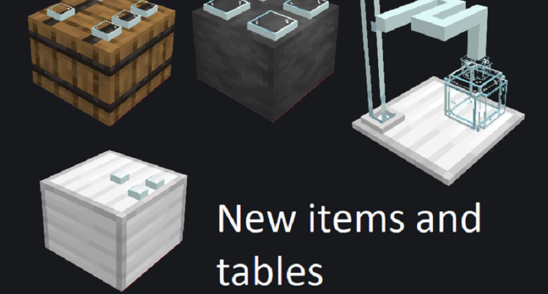 New items and tables!
