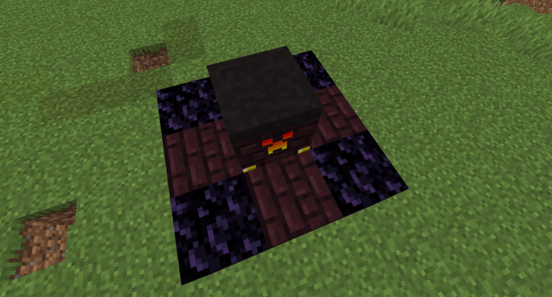 Nether forge (under the forge is lava)