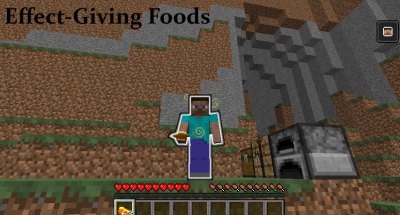 Food with potion effects, like Spectral Glowing