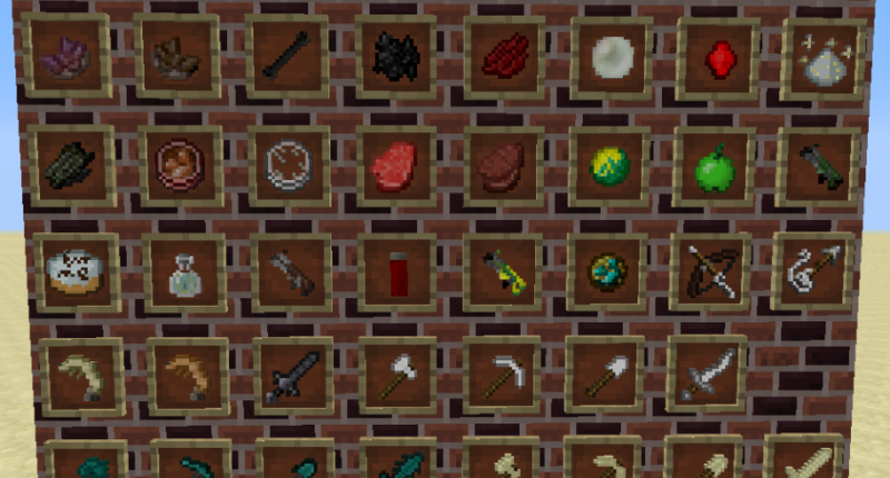 All items/tools/weapons/foods