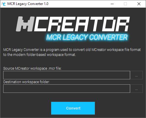 MCreator Legacy MCR converter